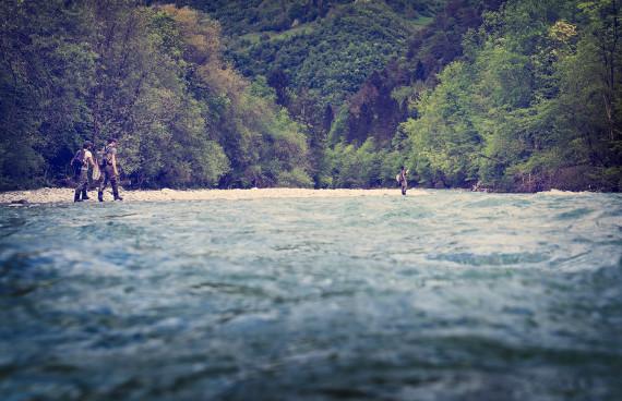 Rogues in Slowenien bei Fliegenfischen