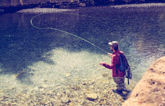 Rogues in Slowenien beim Fliegenfischen